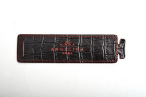 Alligator dark brown portatovagliolo side